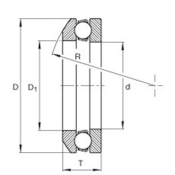 INA 4106 Rolamentos de esferas de impulso