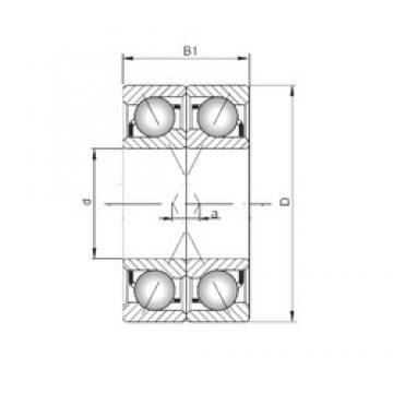 ISO 7309 CDF Rolamentos de esferas de contacto angular