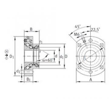 25 mm x 57 mm x 38 mm  INA DKLFA2590-2RS Rolamentos de esferas de impulso