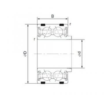 55 mm x 90 mm x 40 mm  NTN EC-DF1160LUALACS40PX1/L325 Rolamentos de rolos gravados