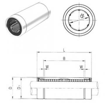 40 mm x 62 mm x 121,2 mm  Samick LME40LUU Rolamentos lineares