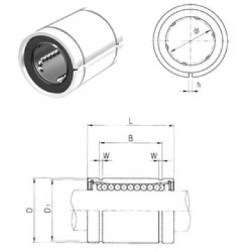 40 mm x 60 mm x 60,5 mm  Samick LM40AJ Rolamentos lineares