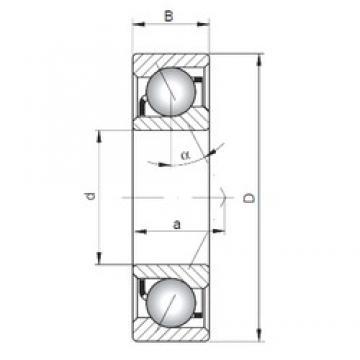 45 mm x 85 mm x 19 mm  ISO 7209 A Rolamentos de esferas de contacto angular