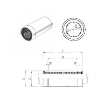 16 mm x 28 mm x 53 mm  Samick LM16LUU Rolamentos lineares