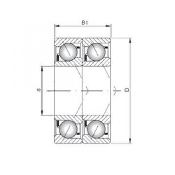 ISO 7060 ADT Rolamentos de esferas de contacto angular