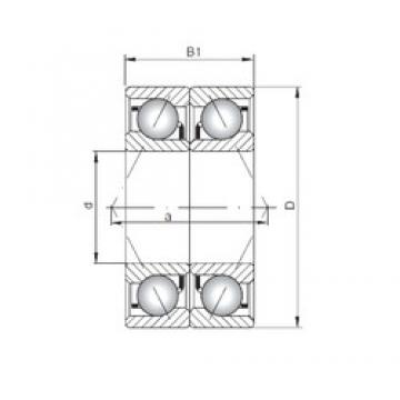 ISO 7017 ADB Rolamentos de esferas de contacto angular