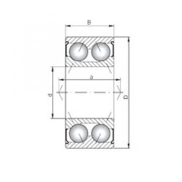 ISO 3001 ZZ Rolamentos de esferas de contacto angular