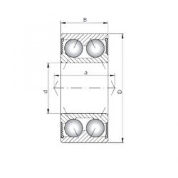 ISO 3304-2RS Rolamentos de esferas de contacto angular