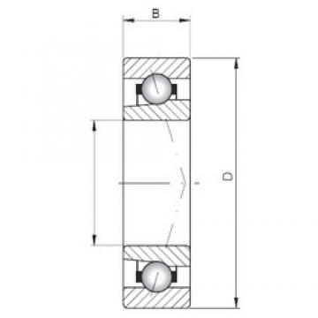 ISO 71848 A Rolamentos de esferas de contacto angular