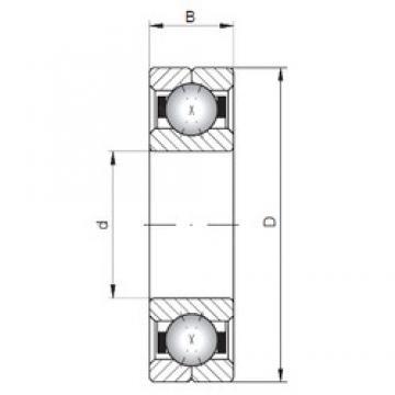 ISO Q205 Rolamentos de esferas de contacto angular