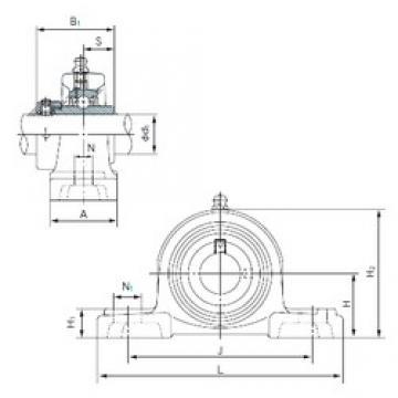 NACHI UGP208 Unidades de rolamento