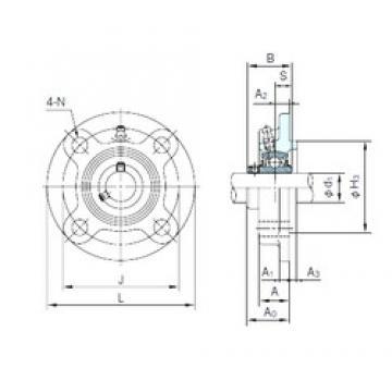 NACHI UCFC212 Unidades de rolamento