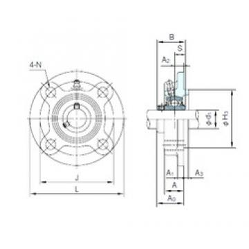 NACHI UCFC216 Unidades de rolamento