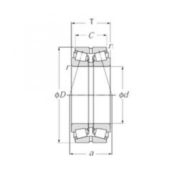 NTN 430218U Rolamentos de rolos gravados