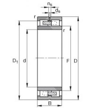 220 mm x 300 mm x 80 mm  FAG NNU4944-S-M-SP Rolamentos cilíndricos