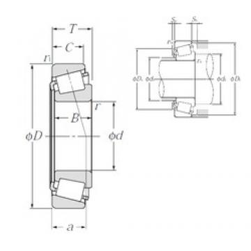 65 mm x 140 mm x 33 mm  NTN 30313U Rolamentos de rolos gravados