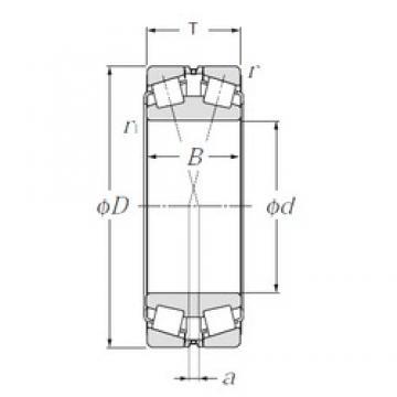 320 mm x 540 mm x 176 mm  NTN 323164 Rolamentos de rolos gravados