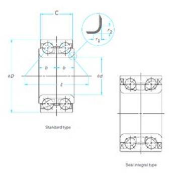37 mm x 72,02 mm x 37 mm  ISO DAC37720237 Rolamentos de esferas de contacto angular