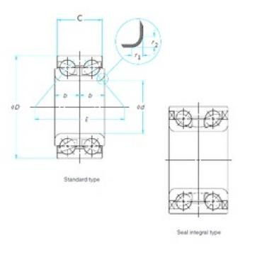 45 mm x 80 mm x 45 mm  ISO DAC45800045 Rolamentos de esferas de contacto angular