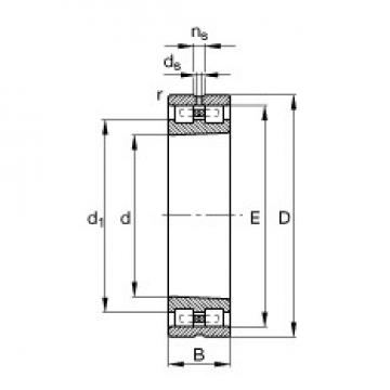 30 mm x 55 mm x 19 mm  FAG NN3006-AS-K-M-SP Rolamentos cilíndricos