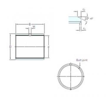 135 mm x 140 mm x 60 mm  SKF PCM 13514060 M Rolamentos simples
