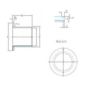 25 mm x 28 mm x 21,5 mm  SKF PCMF 252821.5 E Rolamentos simples