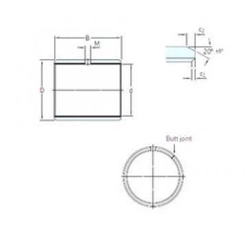 44,45 mm x 49,213 mm x 50,8 mm  SKF PCZ 2832 M Rolamentos simples