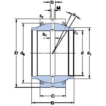 63.5 mm x 100.013 mm x 95.25 mm  SKF GEZM 208 ES-2LS Rolamentos simples