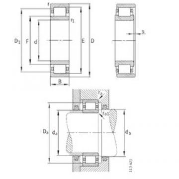 180 mm x 380 mm x 126 mm  FAG NU2336-EX-M1 Rolamentos cilíndricos